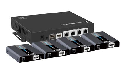 Picture of LENKENG 1x4 HDMI 2.0 PoE Extender