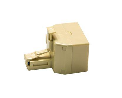 Picture of DYNAMIX RJ11 6x Conductor Dual Adaptor (2x Sockets/1x Plug).