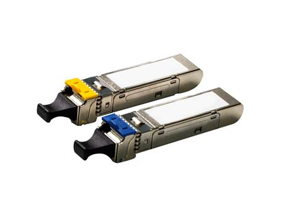 Picture of CARELINK 100Mb LC Single mode WDM Industrial SFP Module. 20km, DDM,