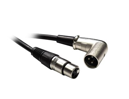 Picture of DYNAMIX 2m XLR 3-Pin Right Angled Male to 3-Pin Female Balanced