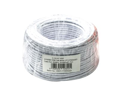 Picture of DYNAMIX 50m Cat6 Beige UTP STRANDED Cable Roll, 250MHz, 24AWGx4P, PVC