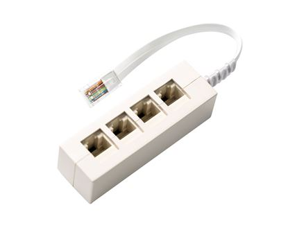 Picture of DYNAMIX RJ45 Splitter, Bridged All Pins, 4-Way