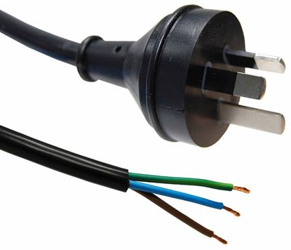 Picture of DYNAMIX 3M 3-Pin Right Angled Plug to Bare End, 3 Core 1mm Cable,