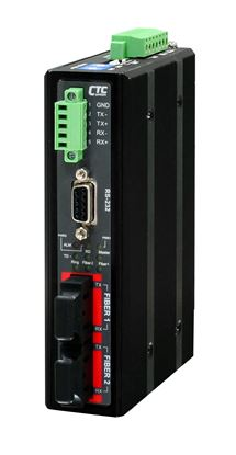 Picture of CTC UNION Serial To Fibre Daisy Chain Media Converter. Serial