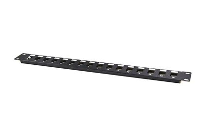 "Picture of DYNAMIX 19"" 16 Port Unloaded Patch Panel Keystone Inserts, 1RU"