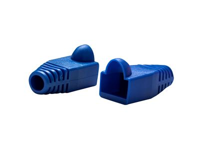 Picture of DYNAMIX BLUE RJ45 Strain Relief Boot (6.0mm Outside Diameter). 20pk
