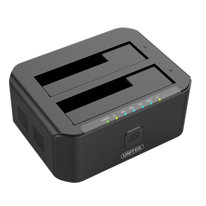 Picture of UNITEK USB3.0 to SATA 6G Dual Bay 2.5'/3.5' HDD Docking Station. Sync