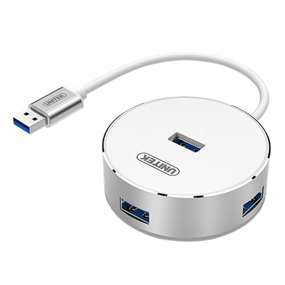 Picture of UNITEK USB3.0, 4 Port Aluminium Hub. USB3.0 backward compatible