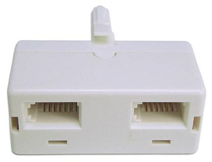 Picture of DYNAMIX BT Telephone Jack Double Adaptor. 6 Wire