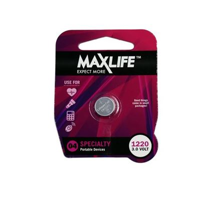 Picture of MAXLIFE CR1220 Lithium Button Cell Battery. 1Pk.