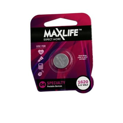 Picture of MAXLIFE CR1620 Lithium Button Cell Battery. 1Pk.