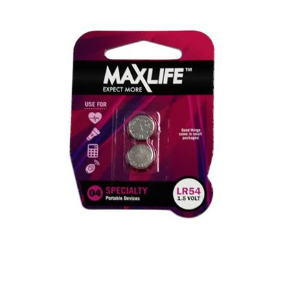 Picture of MAXLIFE LR54 Alkaline Button Cell Battery. 2Pk.