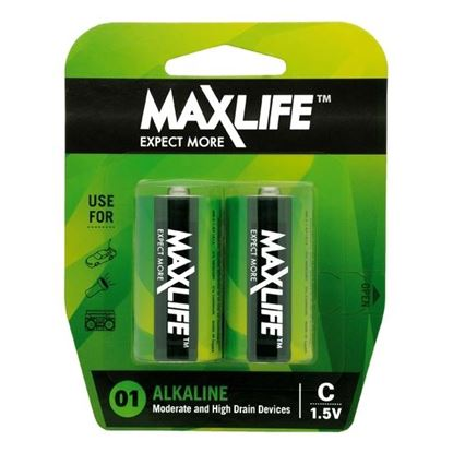 Picture of MAXLIFE C Alkaline Battery 2 Pack