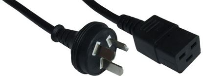 Picture of DYNAMIX 2M Power Cord - 15A Rated. 1.0mm² copper core.