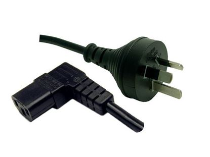 Picture of DYNAMIX 3M 3-Pin Plug to Right Angled IEC Female Connector 10A.