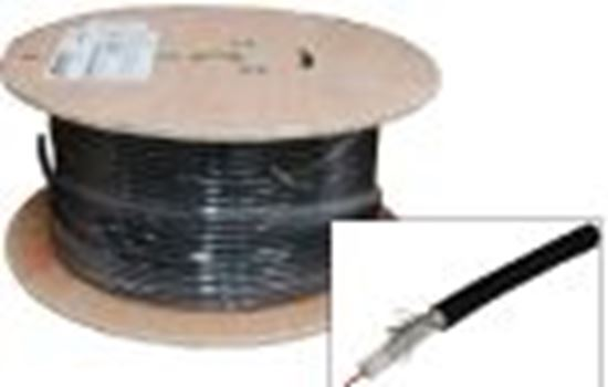 Picture of 152m Roll RG6 Shielded Cable Black. 75ohm. 18AWG solid