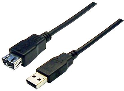 Picture of DYNAMIX 2m USB 2.0 Cable USB-A Male to USB-A Female Connectors.