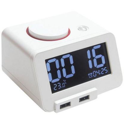 Picture of HOMTIME Bluetooth Alarm Clock Speaker with USB Charging. 2W