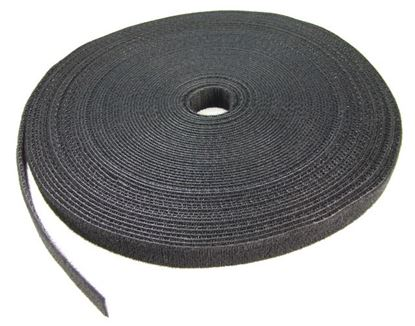Picture of DYNAMIX Hook & Loop Roll 20m x 25mm dual sided, BLACK colour