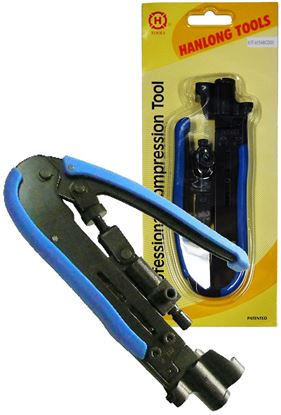 Picture of HANLONG Compression Crimp Tool for RG59/RG6 F/BNC/RCA and RG11 F