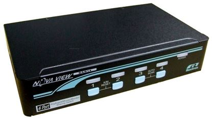 Picture of REXTRON 1-4 Automatic DVI/USB KVM Switch. Share 1x USB