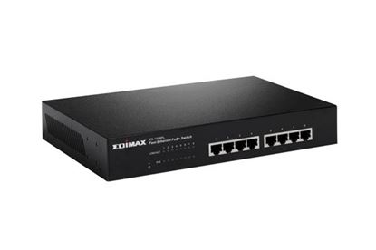 Picture of EDIMAX 8 Port 10/100 Fast Ethernet PoE + Switch. Power Budget: 80W.