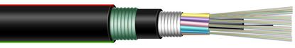 Picture of DYNAMIX 1km OM3 12 Core Multimode Fibre Cable Roll. Outdoor Armoured