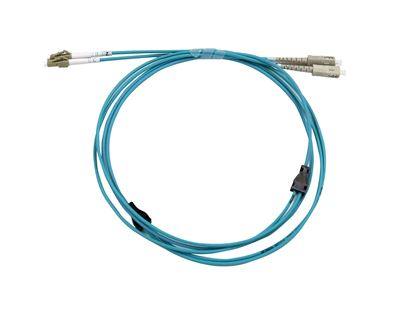 Picture of DYNAMIX 50M LC/SC OM3 Armoured Fibre Lead (Duplex, Multimode)