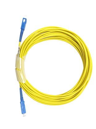 Picture of DYNAMIX 20M SCA/SCA G657A1 Armoured Fibre Lead (Simplex, Singlemode)