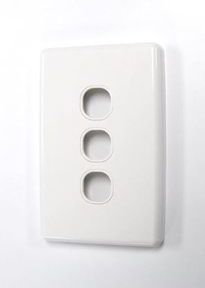 Picture of AMDEX Switch Plate ONLY. 3 Gang WPC Series Wall Face Full Cover