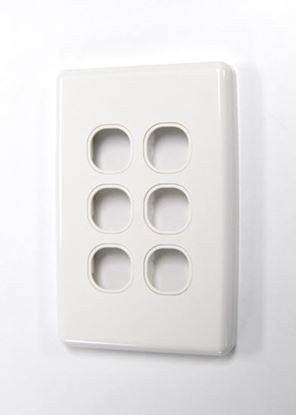 Picture of AMDEX Switch Plate ONLY. 6 Gang WPC Series Wall Face Full Cover