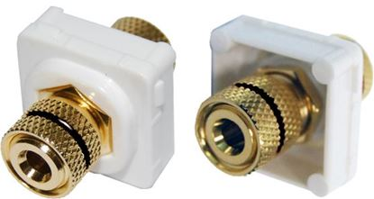 Picture of AMDEX Black Speaker Binding Post. Gold Plated