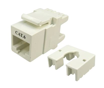 Picture of DYNAMIX Cat6 Keystone RJ45 Jack for 110 Face Plate. T568A/T568B