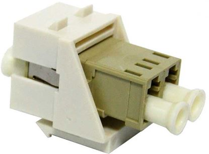 Picture of DYNAMIX LC Duplex Multimode Keystone Face Plate Adapter