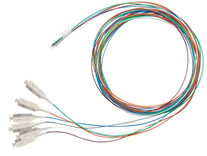 Picture of DYNAMIX 2M SC Pigtail OM1 6x Pack Colour Coded, 900um Multimode