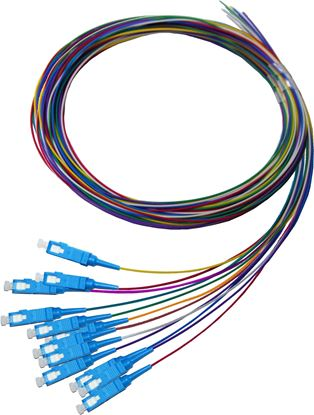 Picture of DYNAMIX 2M SC Pigtail OS2 12x Pack Colour Coded, 900um Single-mode