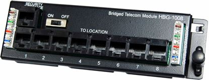 Picture of DYNAMIX 8 Port Telco Distribution Module with RJ31 Security Port.