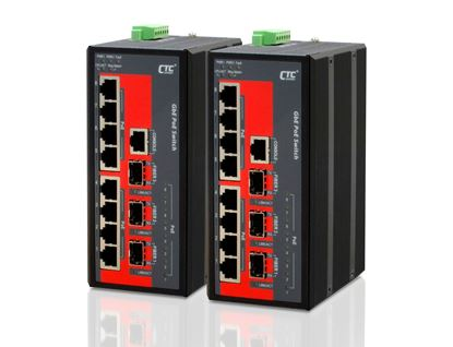 Picture of CTC UNION 8 Port Gigabit Managed PoE Switch. 8x 10/100/1000Base-T(X)