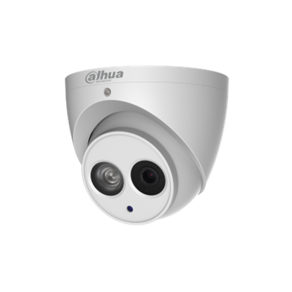 Picture of DAHUA 4MP IR Turret IP Camera, H. 265/H.264 triple-stream encoding 25