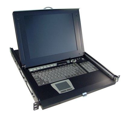 Picture of REXTRON All-in-1 Integrated LCD KVM Drawer. 16 Port, 19'' Screen Size.