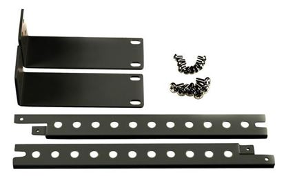 Picture of REXTRON 19' Rackmount Kit for 4 Port KVM Switch. BLACK Colour.