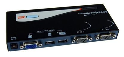 Picture of REXTRON 2 Port USB KVM Switch. Share 1x USB k/b/USB Mouse/Video