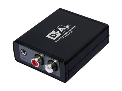 Picture of LENKENG Digital to Analogue Audio Converter. Digital TosLink to
