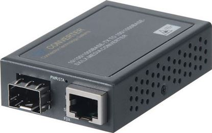 Picture of CTS Compact Gigabit SFP Media Converter. RJ45 to SFP Slot.