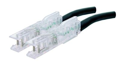 Picture of DYNAMIX 0.5m 1x Pair 110/110 Cat5e Patch Lead: Default Black, A spec