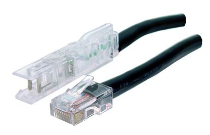 Picture of DYNAMIX 3m 1x Pair 110/RJ45 Cat5e Patch Lead: Default Black, A spec