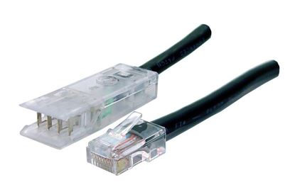 Picture of DYNAMIX 0.5m 2x Pair 110/RJ45 Cat5e Patch Lead: Default Black, A spec
