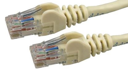 Picture of DYNAMIX 0.5m Cat6 Beige UTP Patch Lead (T568A Specification) 250MHz