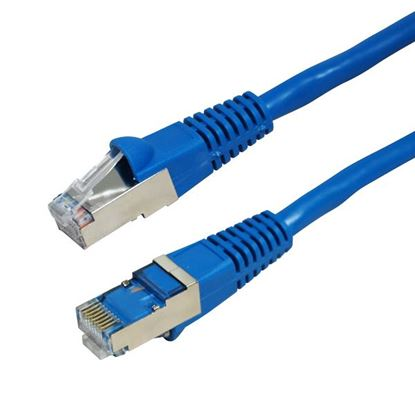 Picture of DYNAMIX 0.5m Cat6A Blue SFTP 10G Patch Lead. (Cat6 Augmented) 500MHz