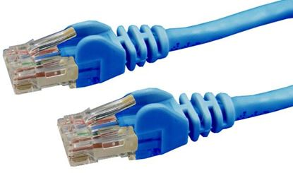 Picture of DYNAMIX 0.5m Cat6 Blue UTP Patch Lead (T568A Specification) 250MHz